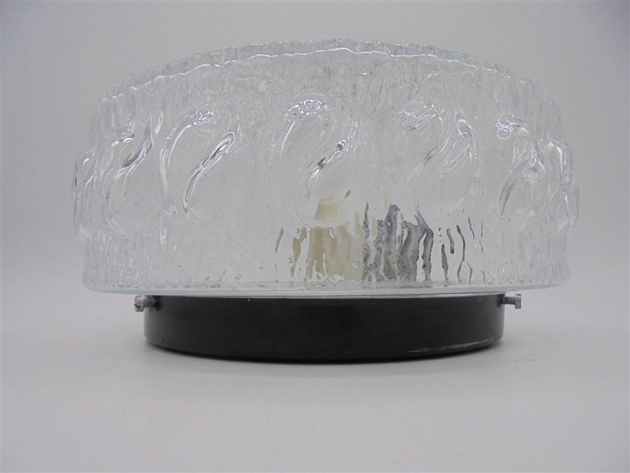 plafonnier rond verre transparent sobre soleil flammes 6 5 Meilleur De Plafonnier Rond Verre Hiw6
