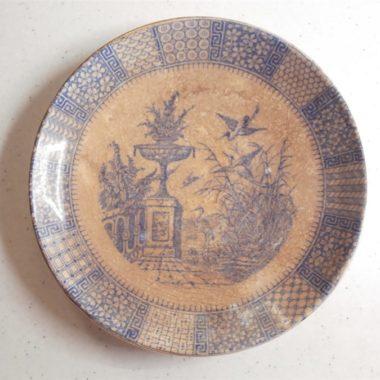 assiette sous tasse luneville ancienne