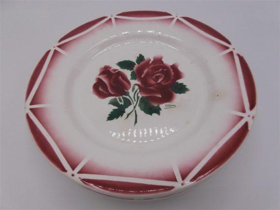 anciennes assiettes digoin cibon roses