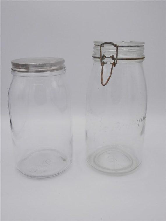bocaux verre anciens