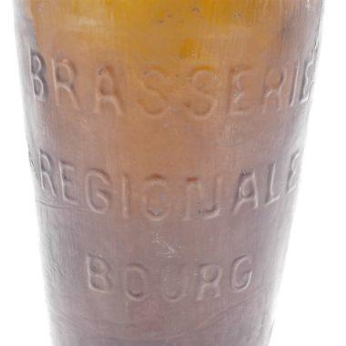 ancienne bouteille verre ambre brun bourg 07