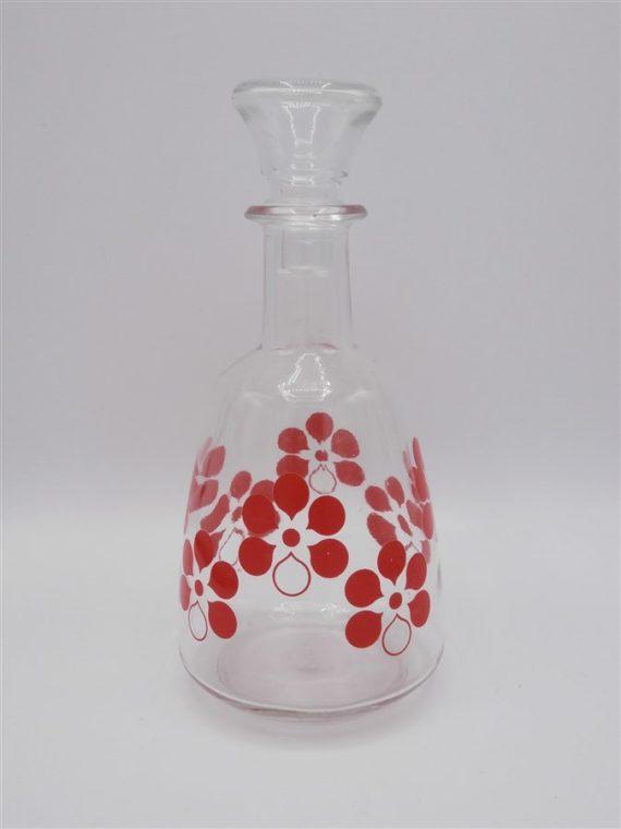 carafe vintage decor floral rouge
