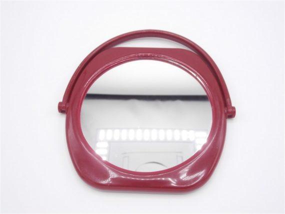 miroir vintage plastique bordeaux maquillage