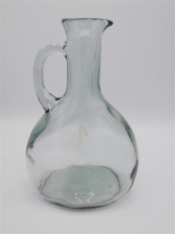 ancien pot a eau carafe verre epais