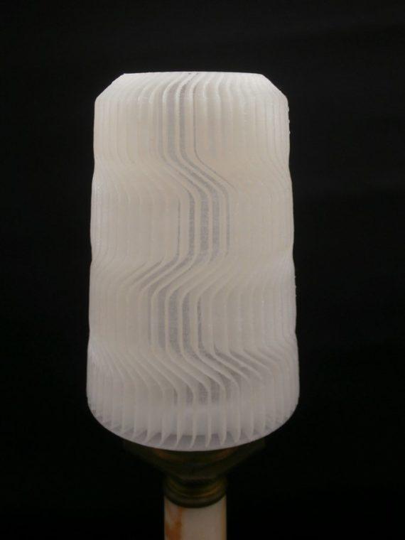 lampes pied vintage abat jour 3D