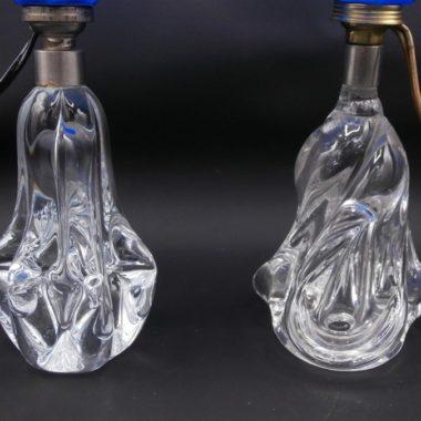 lampes pied verre vintage abat jour 3D