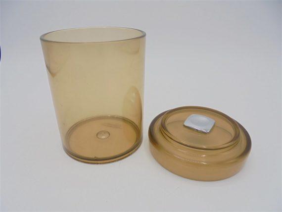 pot boite plastique fume vintage
