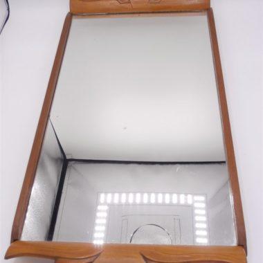 plateau miroir art deco bois