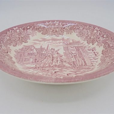 assiette ancienne rouge anglaise