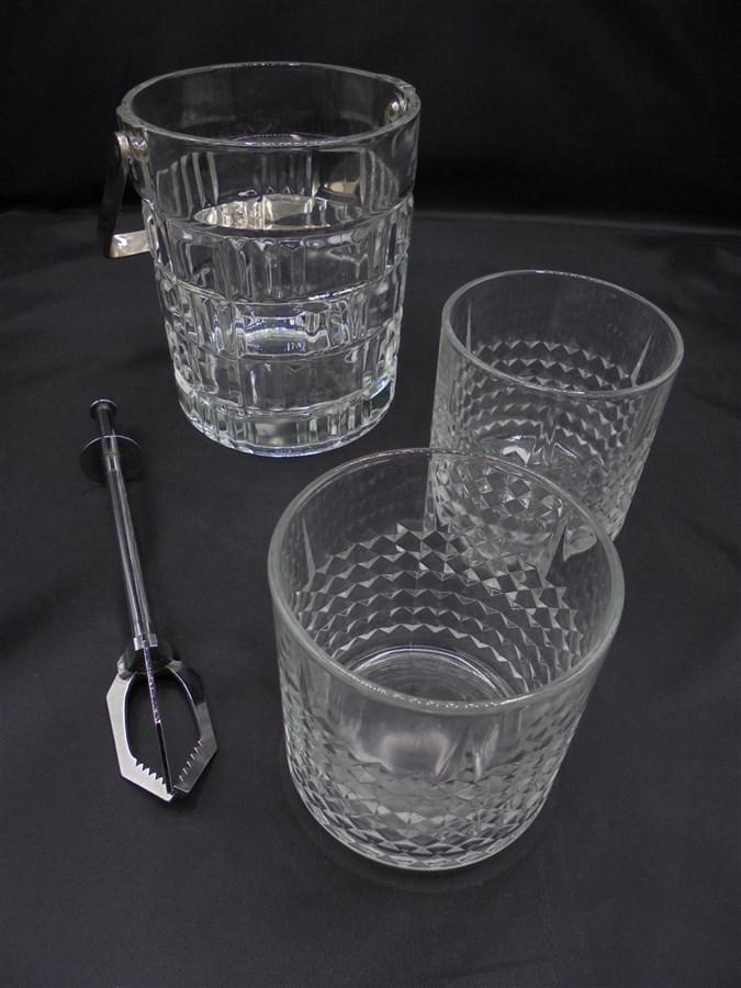 ensemble seau glace 2 verres s lection brocante. Black Bedroom Furniture Sets. Home Design Ideas