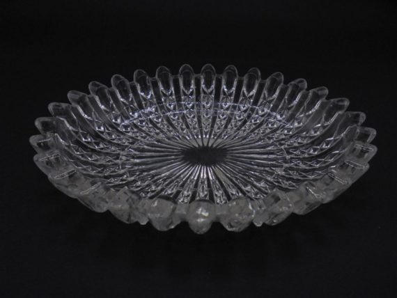 coupelle ovale verre vide poche cendrier