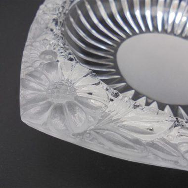 cendrier verre fleurs