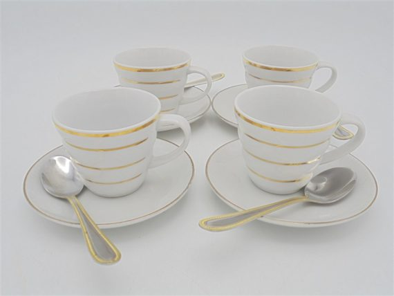 service the cafe porcelaine blanc or