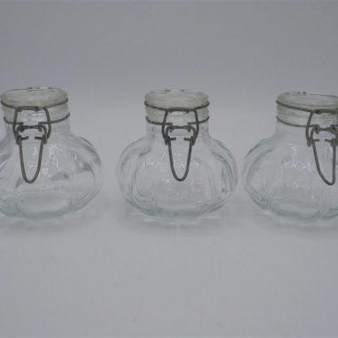 3 petits bocaux forme citrouille