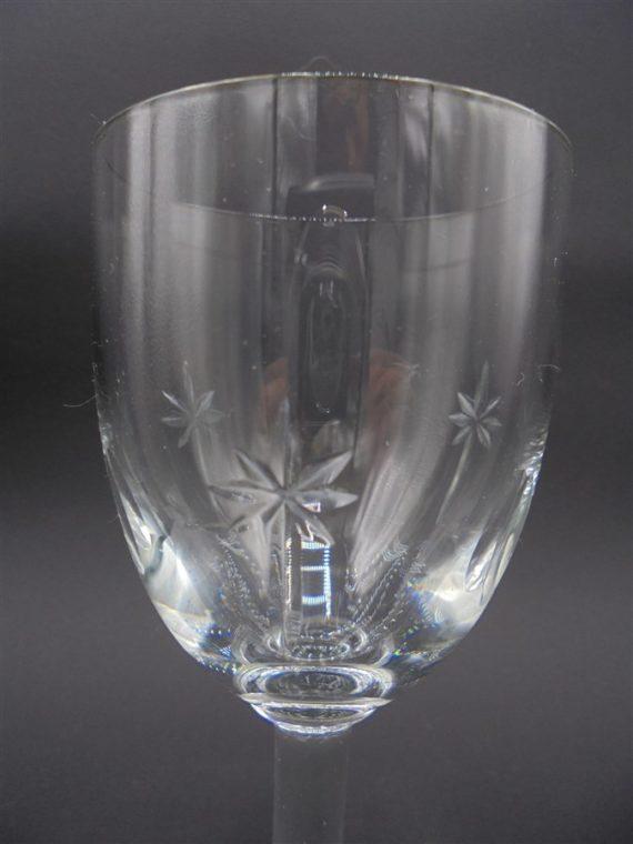 verres pieds petits cristal etoile