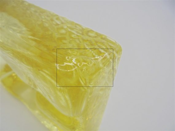 cendrier verre jaune