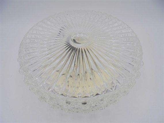 plafonnier rond verre transparent