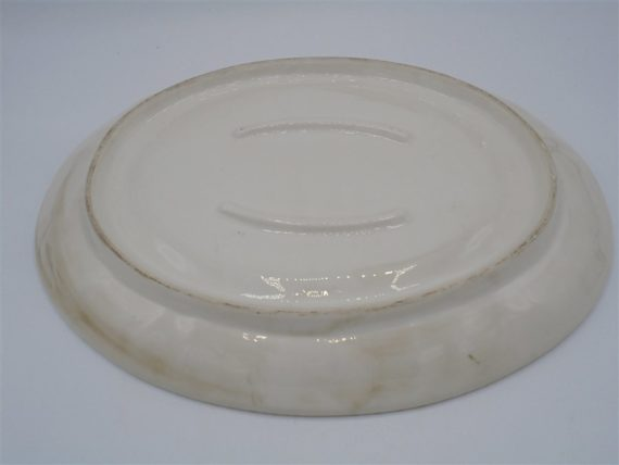 plat ceramique ovale effet patine vernis