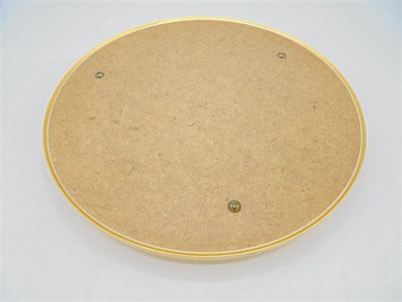 plateau miroir rond contour dore