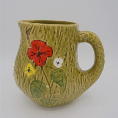 pot carafe bresse pichet fleurs vert coquelicot