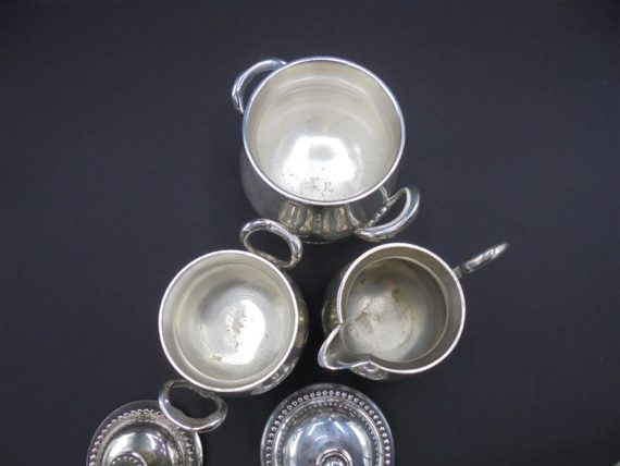 sucriers pot a lait argent perle