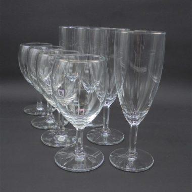 service 4 verres 4 flutes decor cisele