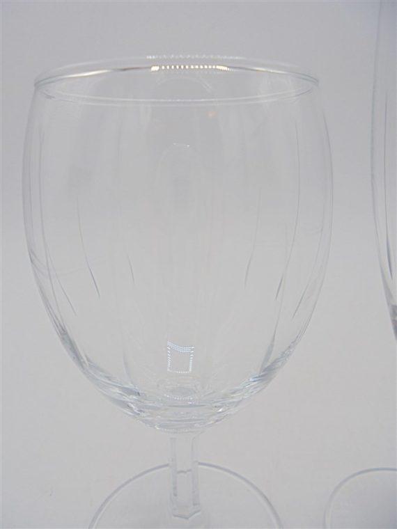 service 8 pieces verre cisele