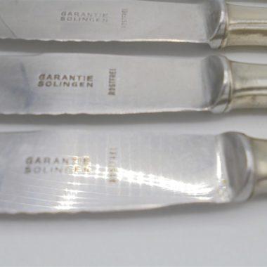anciens couteaux argent