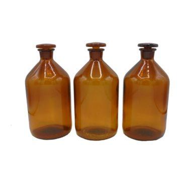 flacons apothicaire verre ambre brun