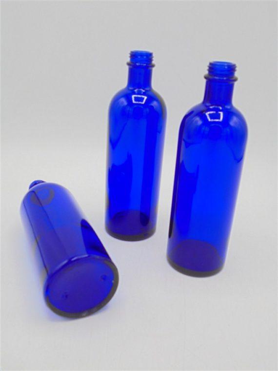 flacons verre bleu roi