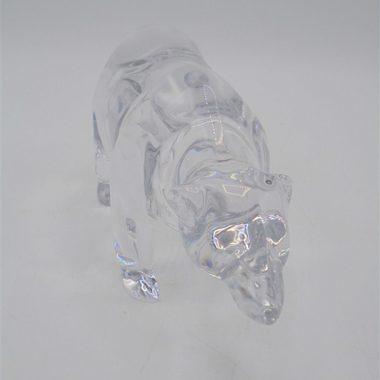ours cristal presse papier