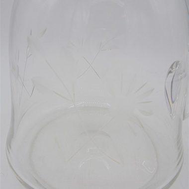 pichet verre cisele ancien