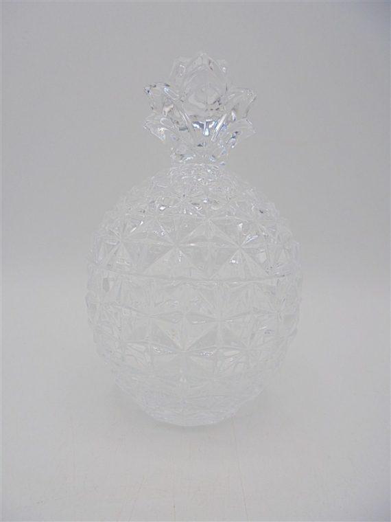 bonbonniere cristal ananas