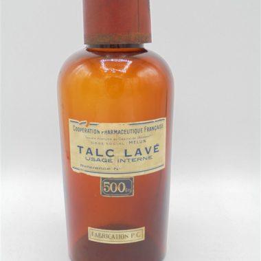 ancien flacon pharmaceutique ambre