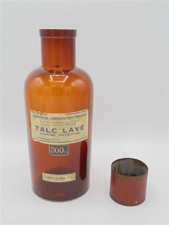 ancien flacon pharmaceutique ambre