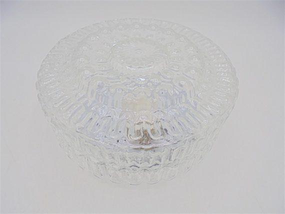 plafonnier luminaire rond verre vintage