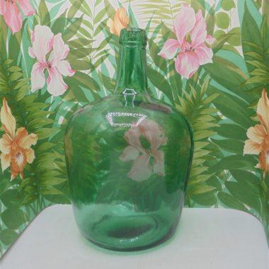 bonbonne verre vert dame jeanne