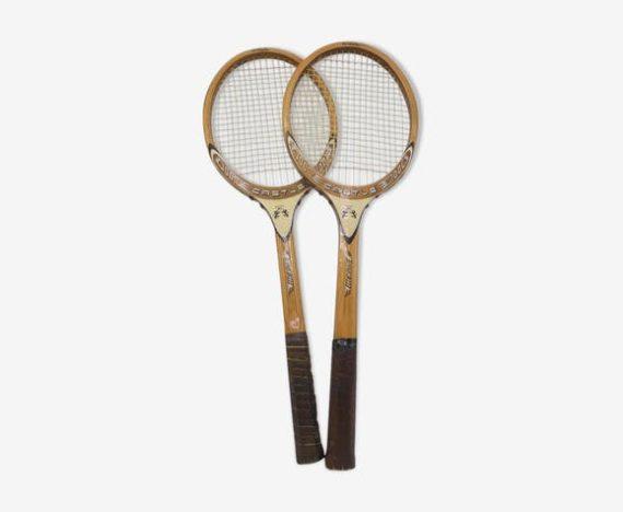 anciennes raquettes tennis bois