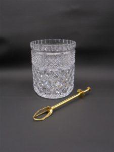 seau glace glacons rafraichisseur bouteille cristal