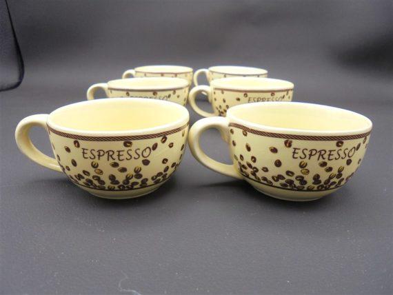 tasses espresso vintage cafe