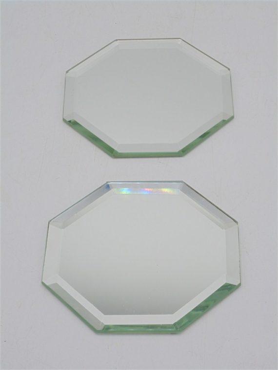 miroirs plateaux haxagonal biseautes