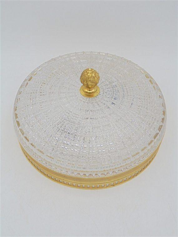 ancien plafonnier couronne lucien gau verre laiton