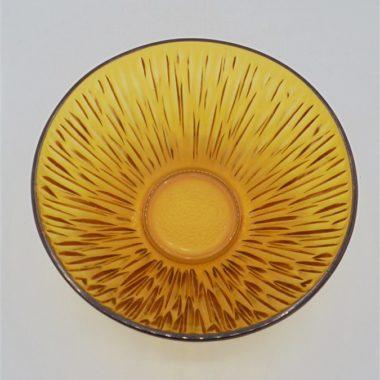 saladier vintage verre ambre