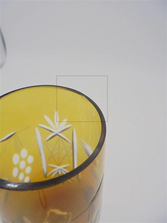 flutes champagne verre cisele colore raisin