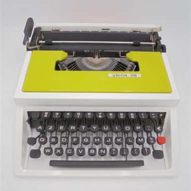 machine a ecrire vintage union 316 underwood vert vintage