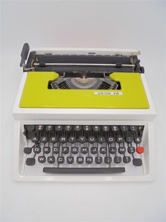 machine a ecrire vintage union 316 underwood vert vintage