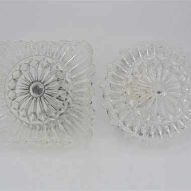 duo plafonniers vintage rond carre