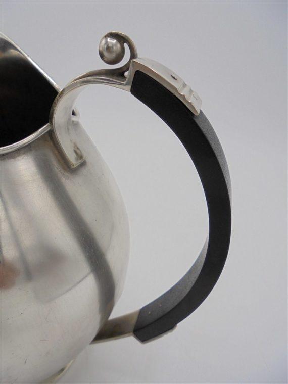 pichet pot a lait argent art deco nouveau scandinave bois