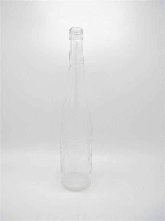bouteille verre cisele decor raisin