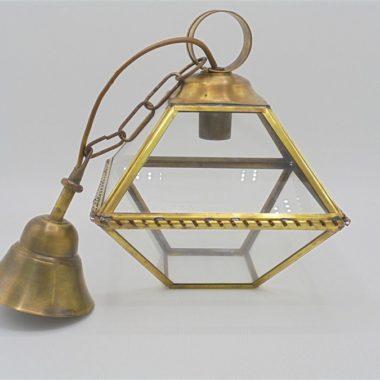 suspension luminaire verre laiton lanterne
